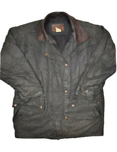 Outback Trading Company Midwest Oilskin Cotton Coat Mens L Waterproof 2230