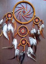 BEADED DREAMCATCHER,Handmade LAKOTA Native American Indian MEDICINE WHEEL Design