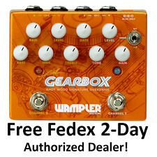 New Wampler Gearbox Andy Wood Signature Dual Overdrive Distortion Pedal