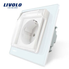 Livolo EU Standard Wall Power Single Socket White color With Waterproof Cover