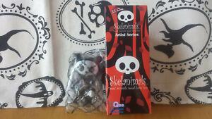 "Skelanimals Artist Series Original Black Chungkee Bear 2.5"" Qee"