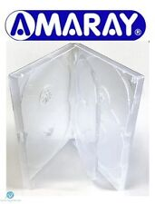 1 x 6 Way Clear DVD Multibox 15mm [6 Discs] Empty New Replacement Amaray Case