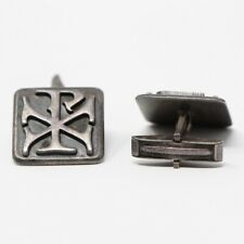 JAMES AVERY Sterling Silver RETIRED Chi Rho Cross Pax Cuff Links