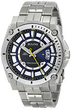 Bulova Men's 96B131 Precisionist Blue Dial Stainless Steel Bracelet Watch