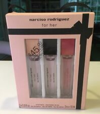 NEW NARCISO RODRIGUEZ For Her 3 x 0.33 oz. Purse Eau de Parfum Spray FREE SHIP