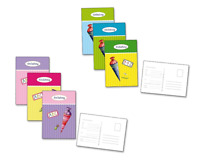 "*Einladungspostkarten 6er Set*Schulanfang*Einschulung*Schulstart""Schultüte""."