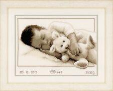 Vervaco - Cross Stitch Kit -  Cuddling - New Baby - Birth Record -  PN-0147889