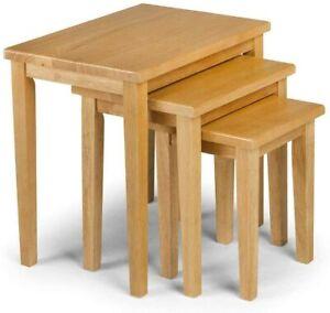 Light Oak Nesting Tables Side Chair Table Home Decor Hardwood
