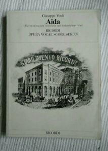 Klavierauszug Giuseppe Verdi - AIDA - Ricordi - deutsch-italienisch