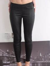 Helmut Lang black real leather skinny jeans size 0 Style RN 119376