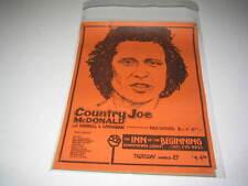 COUNTRY JOE McDONALD EARLY 1980's ORIGINAL VINTAGE POSTER COTATI SONOMA (526)