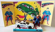 Superman Action Figure & Hot Wheels Car on Custom Action Comics No.1 Display