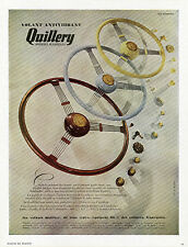 """""""VOLANT ANTIVIBRANT QUILLERY"""" Annonce originale entoilée PLAISIR DE FRANCE 1948"""
