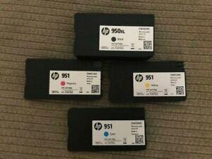 Genuine HP 950XL Black & 951 Color Ink 4-Pack in Bulk Packaging  (Exp: 2022)