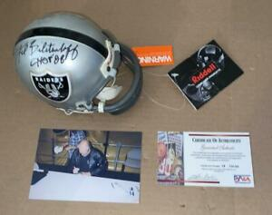 Fred Biletnikoff Autograph Riddell Raiders Mini Helmet Signed HOF 88 PSA DNA COA