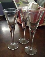(3) Toscany Crystal Glass 2 oz Cordial Liquor Goblets w/ Tag