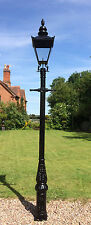 English street light Cast Iron Lamp Post 3.3 m tall & Black Victorian lantern