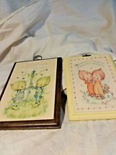 2 Hallmark Betsy Clark Plaques-1979 One of Them