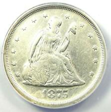 1875-S Twenty Cent Coin 20C - Certified ANACS XF40 Detail EF40 - Rare Type Coin!