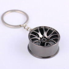 Creative Cool Metal Wheel Hub Car Hub Keychain Key Ring Novelty Unisex Keyfob