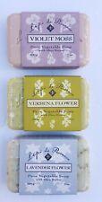 French Soap By L'epi de Provence Set Of 3 Violet Moss Verbena Flower & Lavender