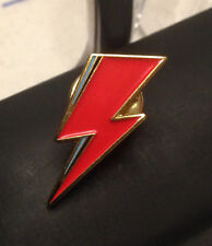 David Bowie Aladdin Sane metal enamel Lightning Pin Badge