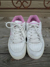 VANS White/Pink Leather Skateboard shoes Women's size 9