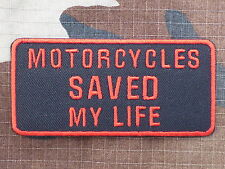 ECUSSON PATCH THERMOCOLLANT aufnaher toppa MOTORCYCLES SAVED MY LIFE biker trike