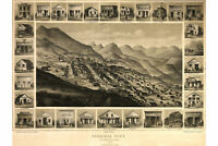 Map of Virginia City, Nevada Territory; 1891; Antique Birdseye Map
