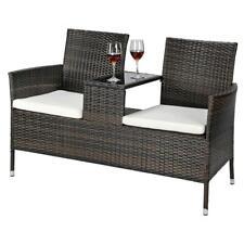 Home New Rattan Iron Wicker Lover Chair Patio Pool Furniture Garden Balcony Seat
