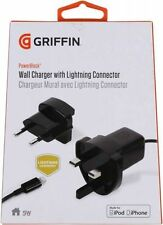 GRIFFIN POWERBLOCK WALL UK/EU CHARGER+LIGHTNING CABLE FOR iPhone 6+/6/5S/5/5C/SE