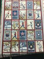 Let's Play Ball Panel being sold by the yard 100% cotton Quilting Fabric Benarte