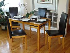 Dining Room Kitchen Set Rectangular Table and 4 Fallabella Chair Maple