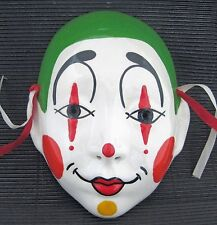 Ceramic Hanging Mime MASK NEW ORLEANS Artist Signed