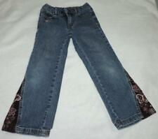 EC ARIZONA GIRLS SIZE 5 SLIM 5-POCKET STRETCH BOOT CUT BLUE JEANS w/STITCHING