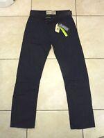 "Burton Menswear Straight Belted Jeans Waist 32"" Leg 32"" BNWT RRP £35 Dark Blue"