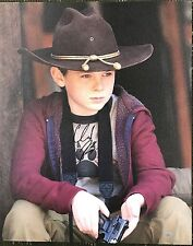 "The Walking Dead Signed Chandler Riggs Carl 16x20 Canvas ""Contemplating"""