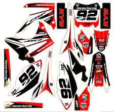 Rojo MX Decal Sticker Kit En Vinilo Mx Se Ajusta Honda CRF450 2013 2014 (no OEM)