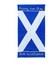Scotland Beach Towel Scottish Flag Blue and White St Andrews Cross Saltire
