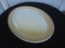 vintage antique style   oval wall mirror cream gold