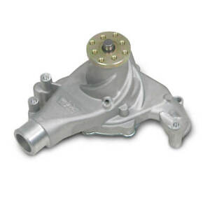 Weiand Action Plus Mechanical WATER PUMP Long  9240 Satin Aluminum SBC Chevy NEW