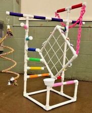 "3' Tall Climber 1/2"" PVC Parrot Perch  Stand  Play Gym   **FREE SHIPPING!**"