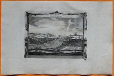 VAN DER AA Gravure originale c1725 VUE DE LYON Lyonnais Rhône Colline