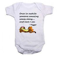 Tigger Beautiful Quote Funny Babygrow Baby vest Bodysuit Gift Present Boys Girls