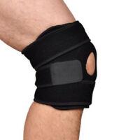 Elastisch Klammer Kniepolster Einstellbar Knieschützer Knieorthese  Schutzgur li
