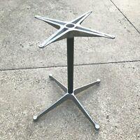 Vintage Herman Miller Charles Eames Table Base Aluminum Group MCM With Glides