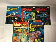 5x Amazing Stories Comic Books Sinister / Uncanny Tales / Astounding / Suspense