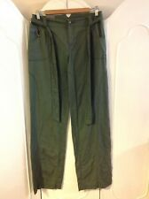 LADIES FIRETRAP KHAKI GREEN TROUSERS NEW WITH TAG SIZE 8/10