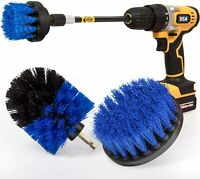 Drill Brush Power Scrubber Kit Cleaning Brush Extended Long Attachment 4 Pack