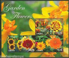 LIBERIA  2014 GARDEN FLOWERS SHEET II  MINT NH